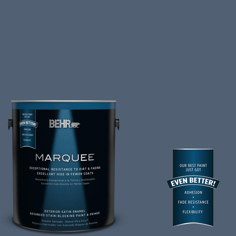 BEHR MARQUEE 1-gal. #PPU14-19 English Channel Satin Enamel Exterior Paint