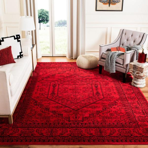 Safavieh Adirondack Red Black 9 Ft X 12 Ft Area Rug Adr108f 9 The Home Depot