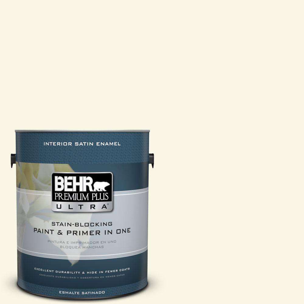BEHR Premium Plus Ultra 1-gal. #W-B-300 Magnolia Blossom Satin Enamel Interior Paint