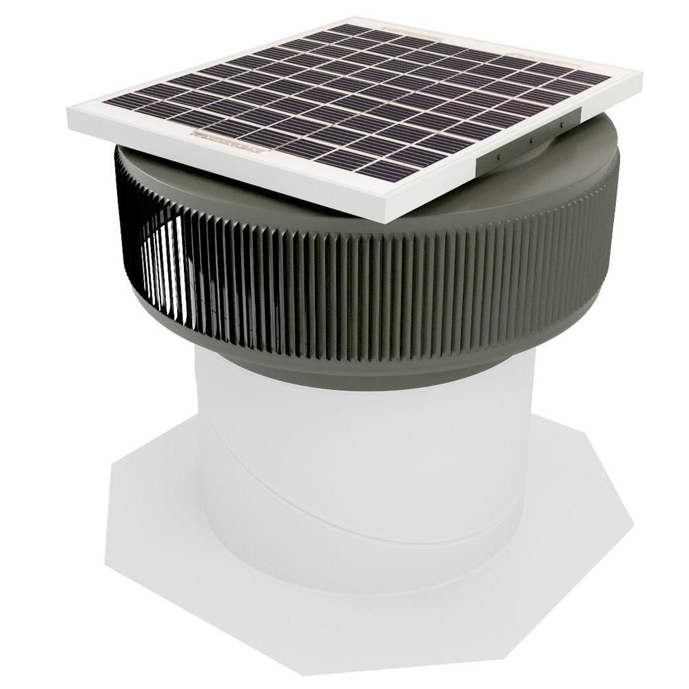 740 CFM Weatherwood Powder Coated 10-Watt Solar Powered 1...