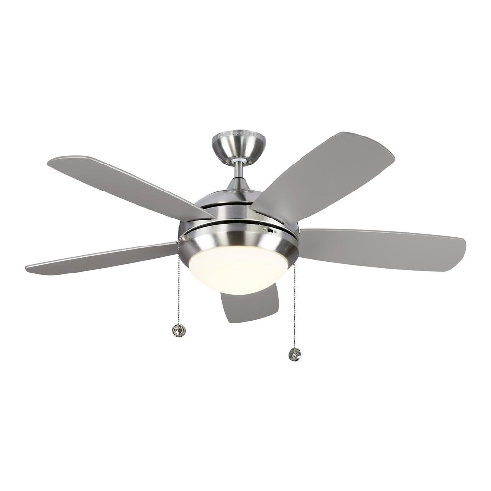 Discus Classic II 44 in. Integrated LED Brushed Steel Ceiling Fan