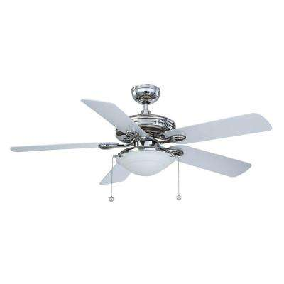 52 in. Polished Nickel Ceiling Fan