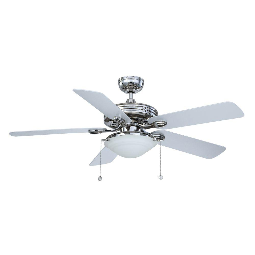 Designers Choice Collection 52 in. Polished Nickel Ceiling Fan ...