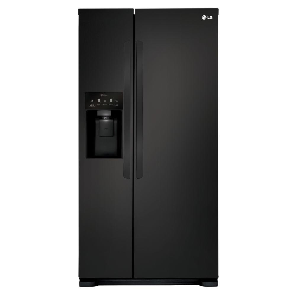 lg electronics 33 in w 22 cu ft side by side. Black Bedroom Furniture Sets. Home Design Ideas