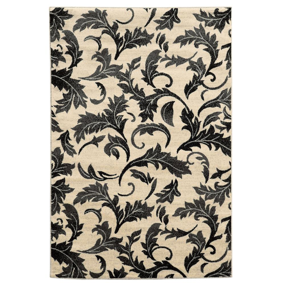Linon Home Decor Elegance Forest Grey 2 Ft. X 3 Ft. Area Rug