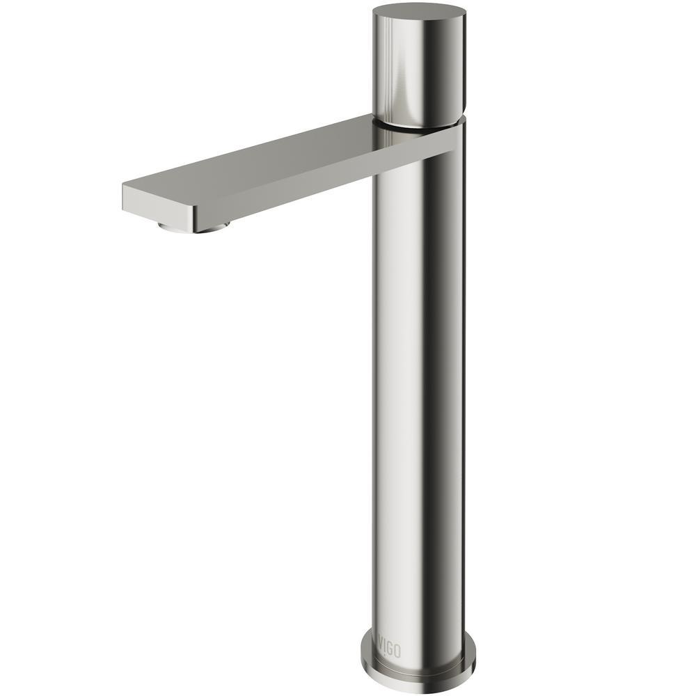 Gotham Single Hole Single-Handle Vessel Bathroom Faucet in Brushed Nickel