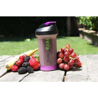 BPA Free Polypropylene 16 oz. Pink and Purple Hand Powered Blender Bottle (2-Pack)