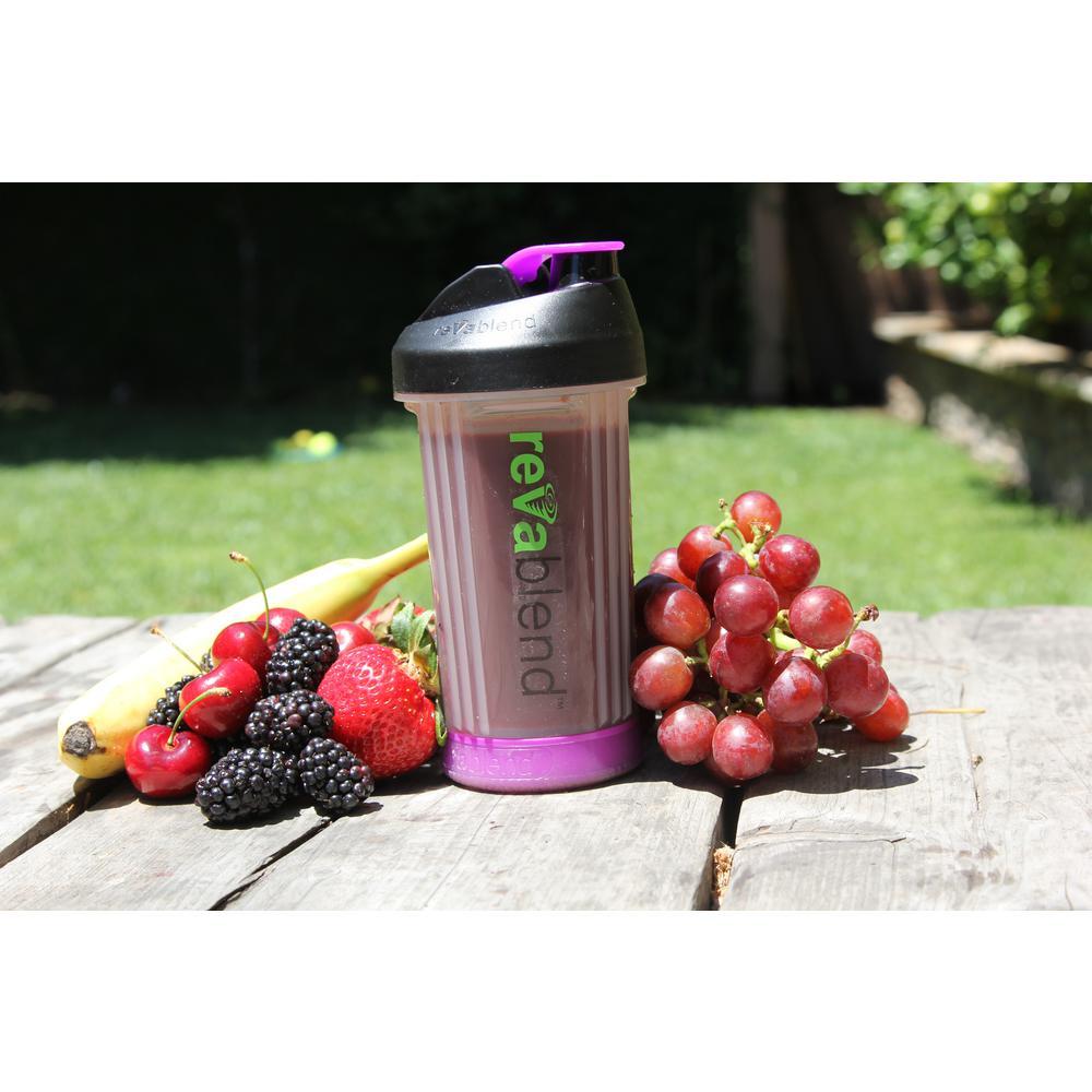 BPA Free Polypropylene 16 oz. Pink and Purple Hand Powered Blender Bottle (2-Pack)