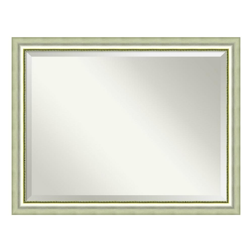Amanti Art Vegas Curved Silver Wood 45 in. W x 35 in. H Casual Framed Mirror was $444.07 now $258.4 (42.0% off)