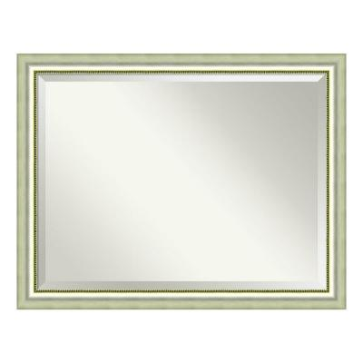 Medium Rectangle Burnished Silver Casual Mirror (34.88 in. H x 44.88 in. W)