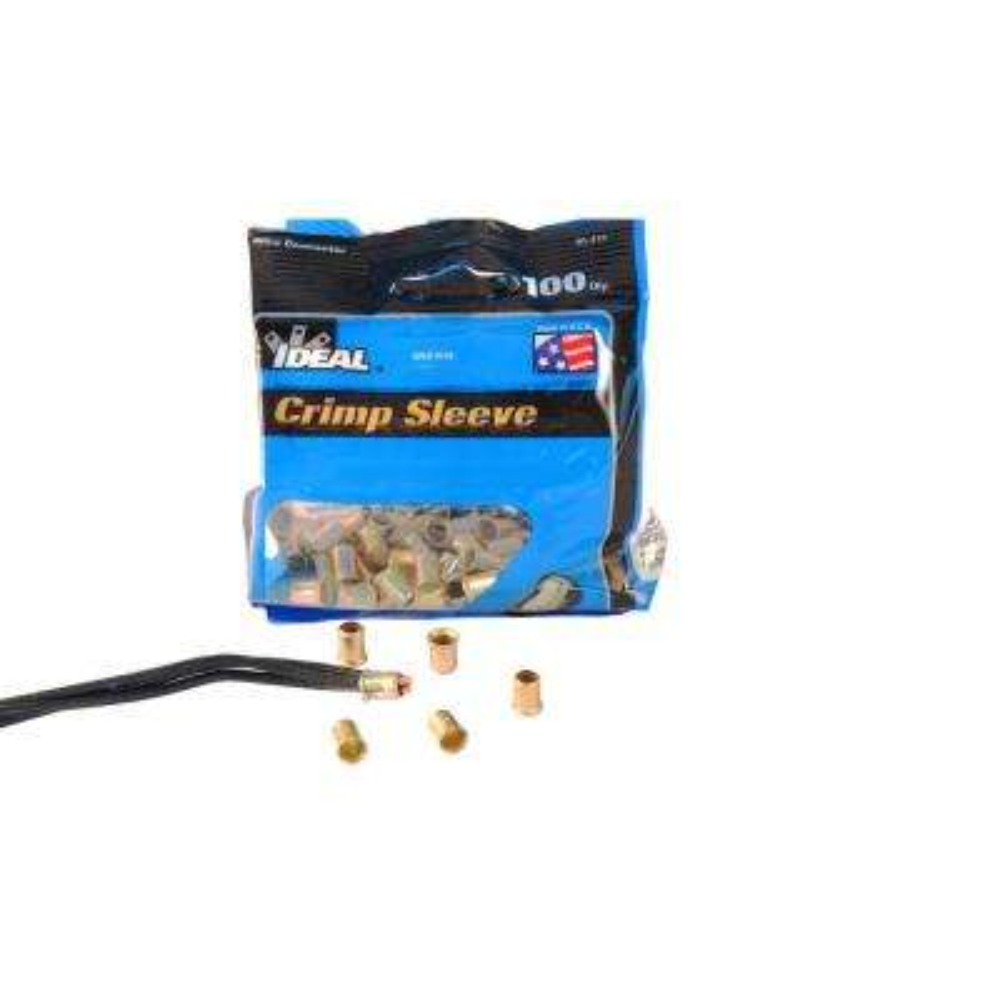 Steel Crimp Sleeve Connector (Bags of 100, Standard Package 2 Bags)