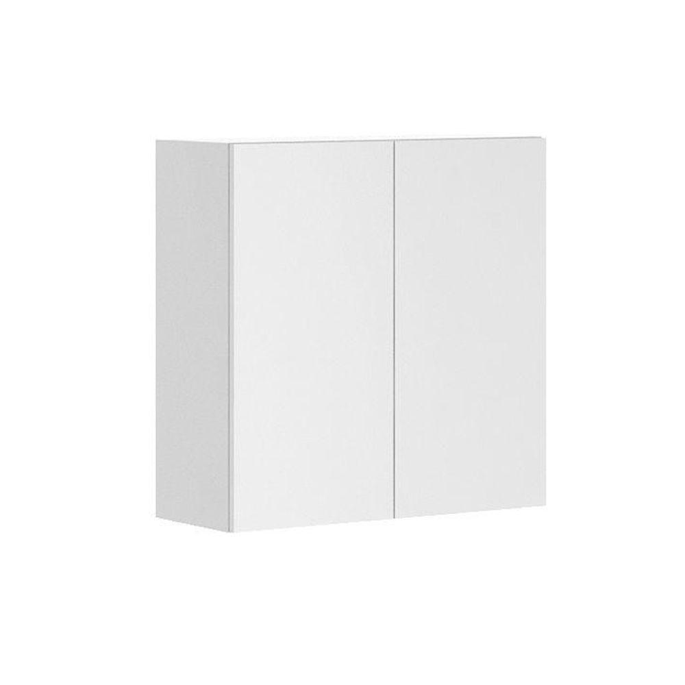 Fabritec Alexandria Ready to Assemble 30 x 30 x 12.5 in. Wall Cabinet in White Melamine and Door in White