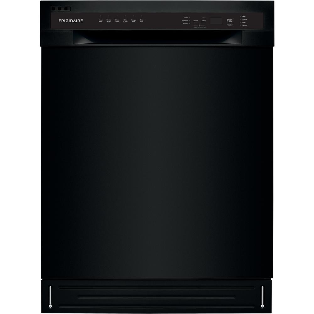 Frigidaire 24 In Ada Tall Tub Dishwasher In Black With Stainless Steel Tall Tub 52 Dba Ffbd2420ub The Home Depot