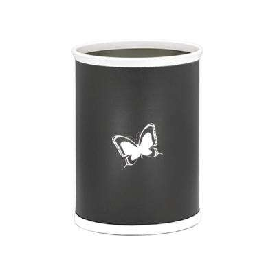 Kasualware Butterfly 13 Qt. Oval Waste Basket in Black