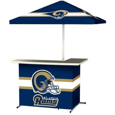 St Louis Rams All Weather L Shaped Patio Bar With 6 Ft. Umbrella