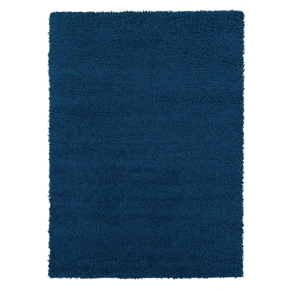 SWEET HOME STORES Cozy Shag Collection Navy Blue 5 ft. x 7 ft. Indoor Area Rug was $75.33 now $56.5 (25.0% off)