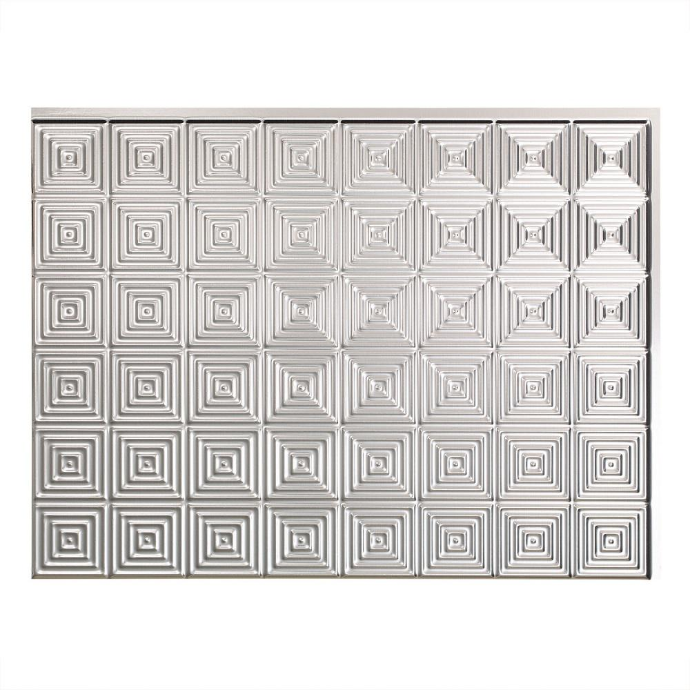 Fasade Traditional Style 10 Brushed Aluminum 18 In X 24: Fasade 25 In. X 18 In. Traditional Style # 1 PVC