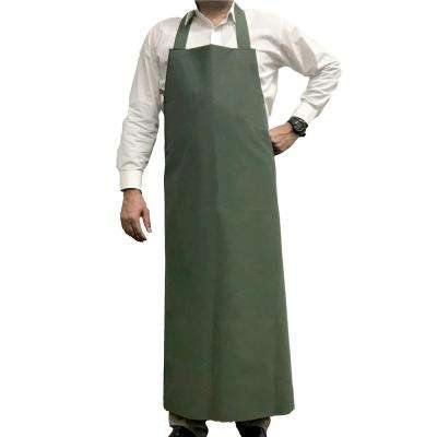 Waterproof and Oilproof Vinyl Bib Apron, Large, Green