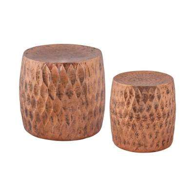 Djembe 18 in. Copper Bar Stool (Set of 2)