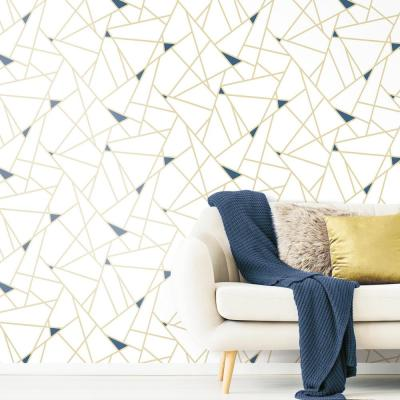 28.18 sq. ft. Gold Fracture Peel and Stick Wallpaper