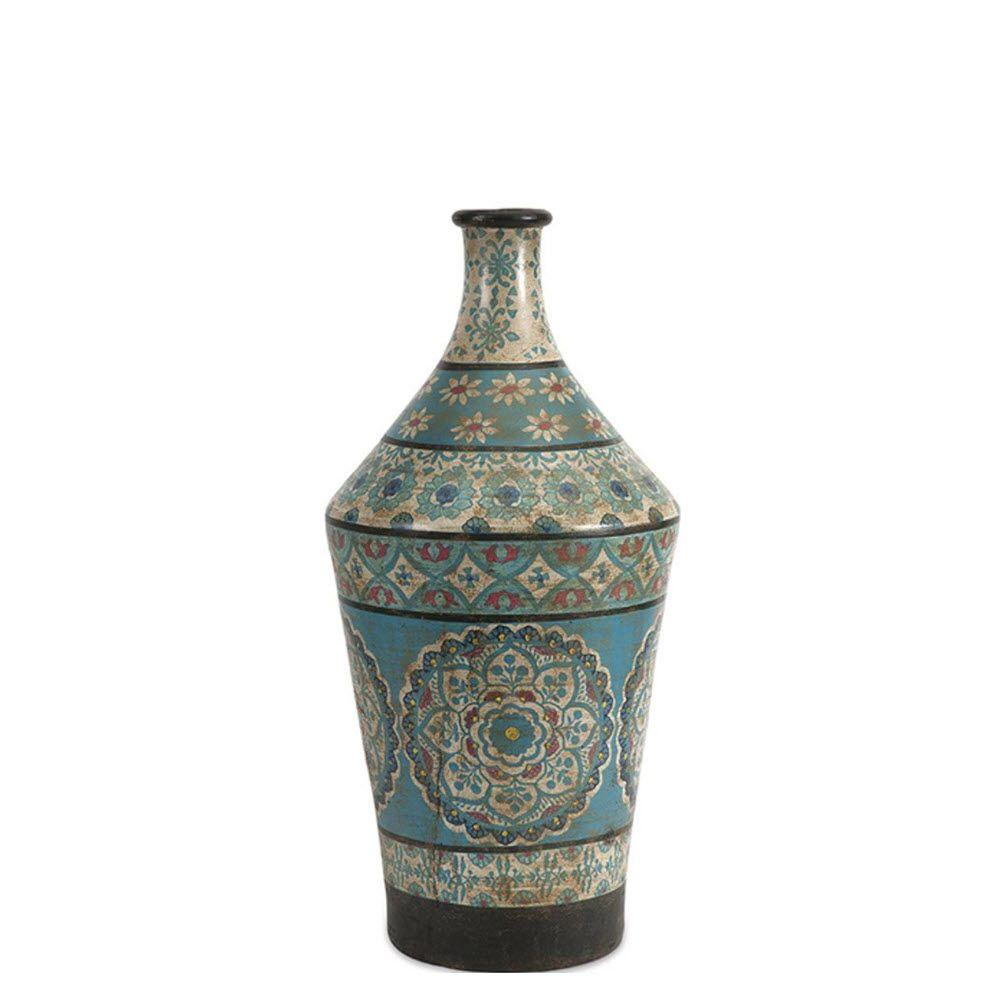 null Kabir Large Hand Painted Vase