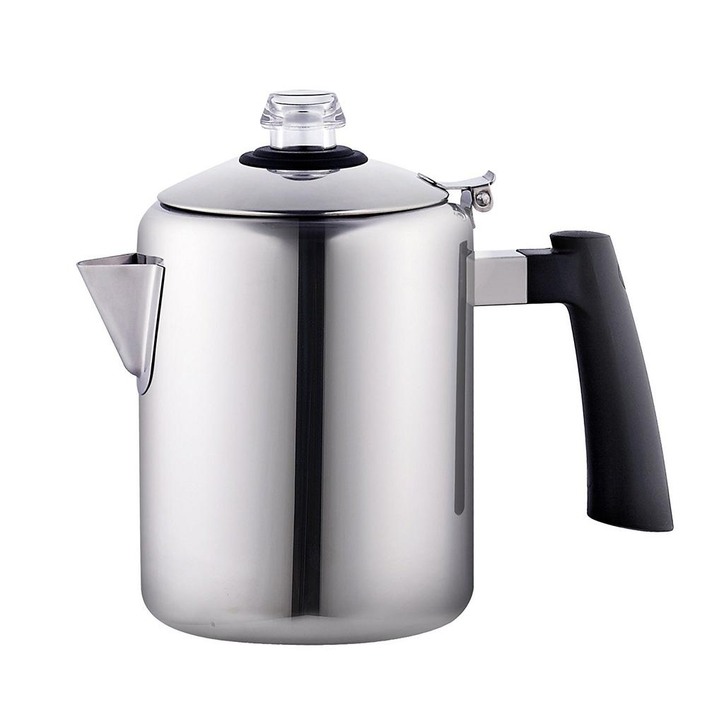 Cook N Home 8 Cup Stainless Steel Stovetop Tea Coffee Percolator Pot Kettle