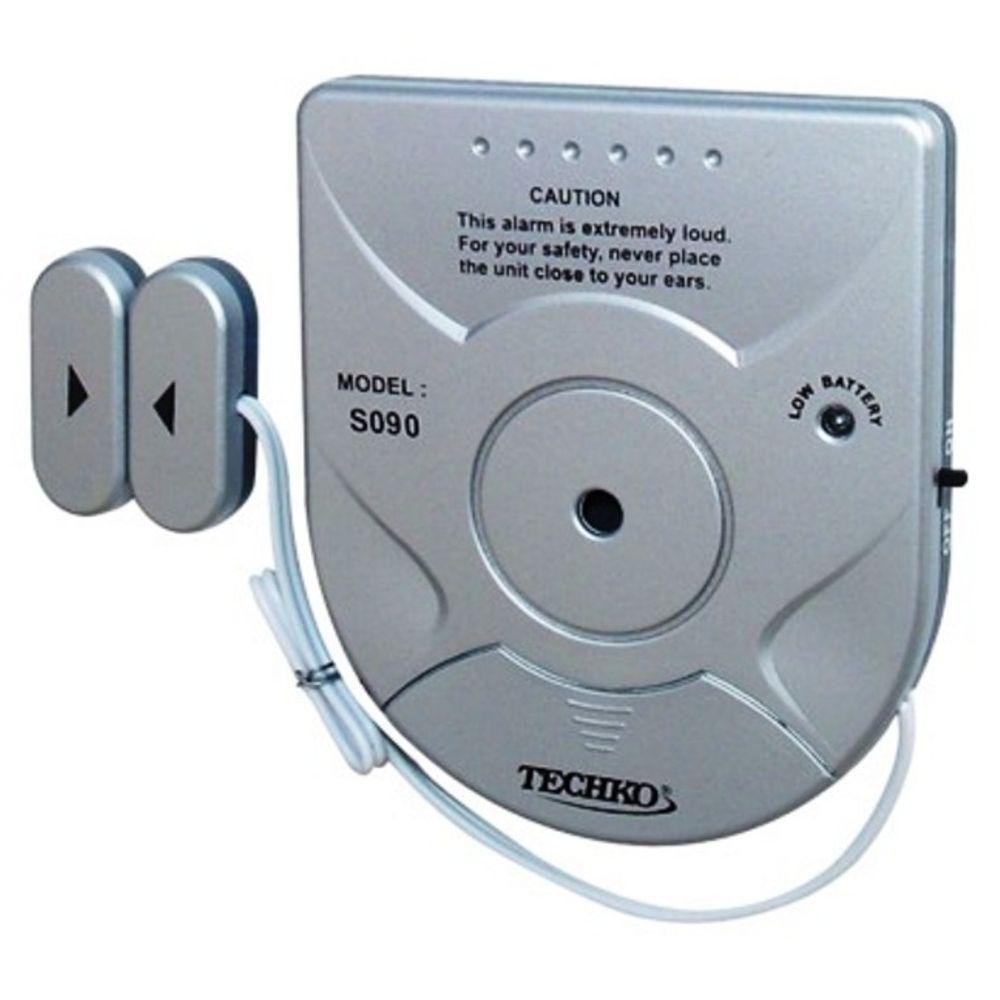 Techko Wireless Solar Powered Magnetic Sensor Entry Door Window