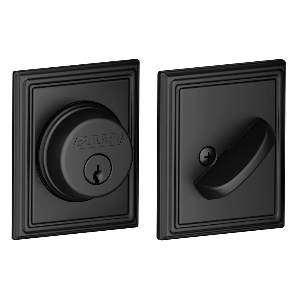 Schlage Lock Addison Matte Black Single Cylinder Deadbolt