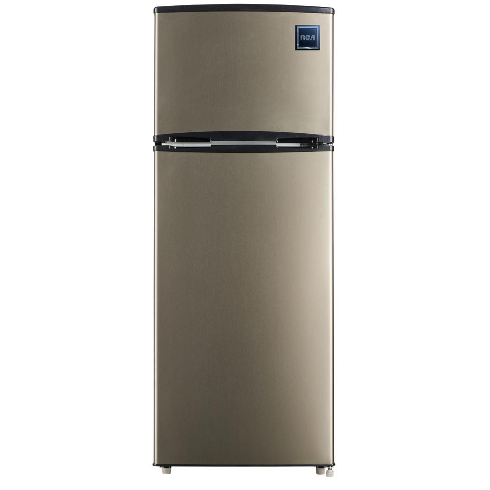 96f6284f719 RCA 7.5 cu. ft. Mini Fridge with Stainless Look-RFR725 - The Home Depot