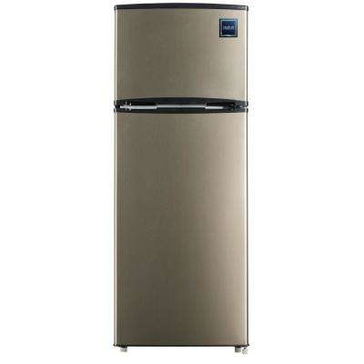 7.5 cu. ft. Mini Fridge with Stainless Look