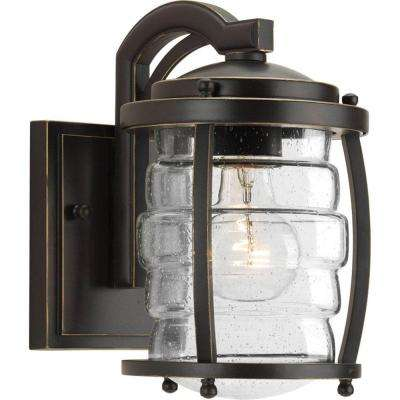 Signal Bay Collection 1-Light Oil Rubbed Bronze 9.25 in. Outdoor Wall Lantern Sconce