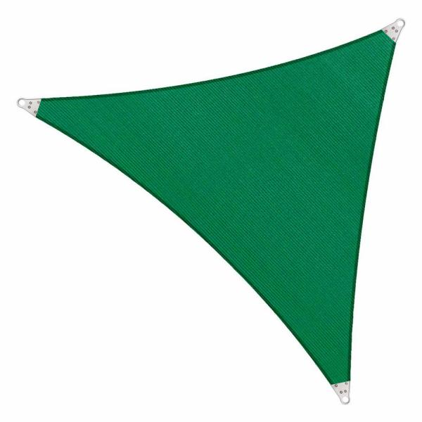 28 ft. x 28 ft. 260 GSM Reinforced (Super Ring) Green Triangle Sun Shade Sail
