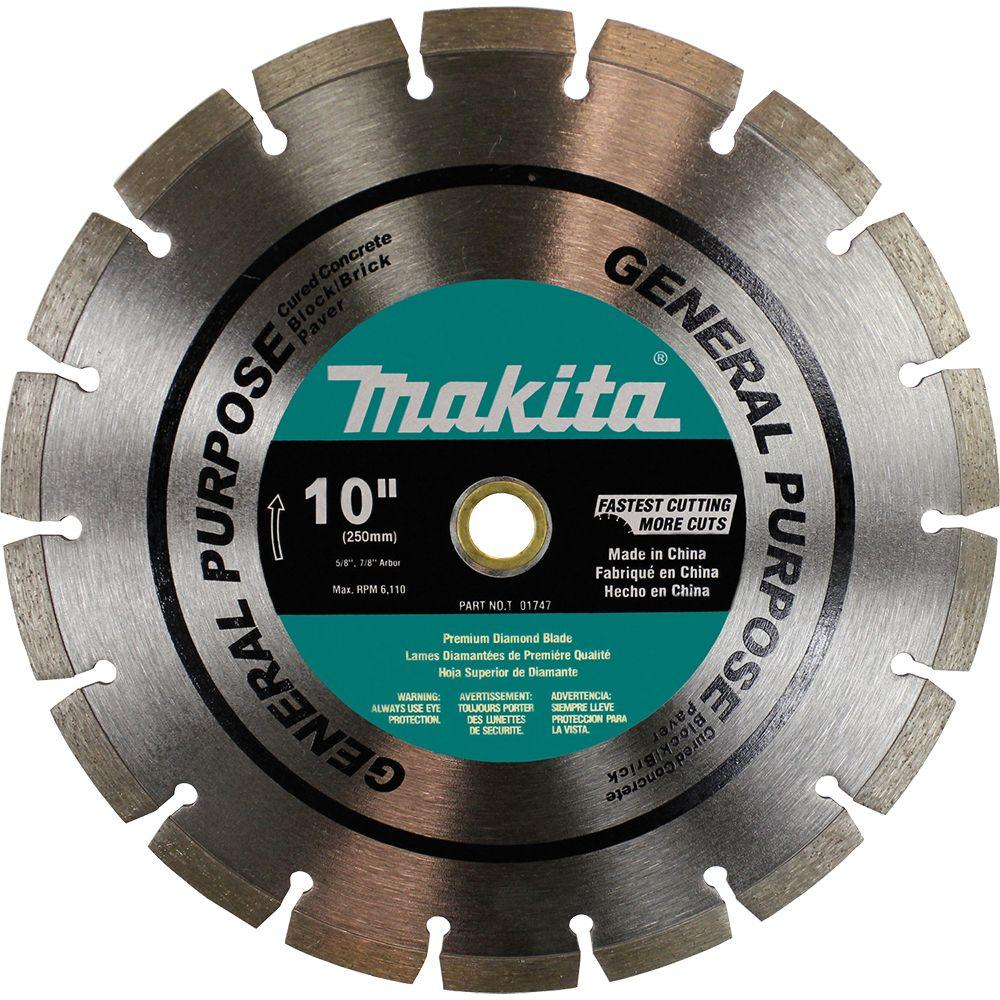 Makita 10 in. General Purpose Diamond Premium Segmented Blade