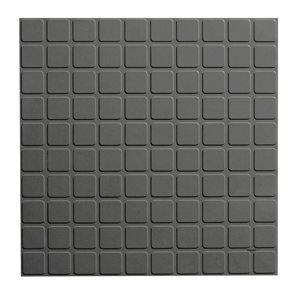 Roppe Square Profile 1969 In X 1969 In Charcoal Rubber Tile