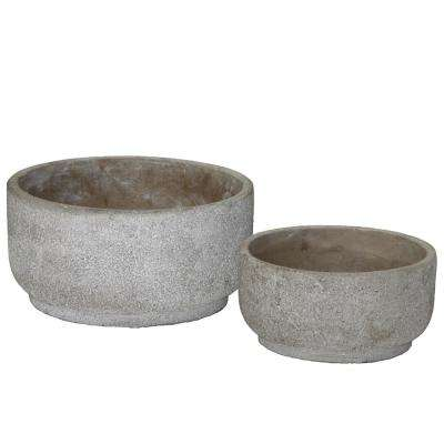Gray Concrete Rough Cement Decorative Vase