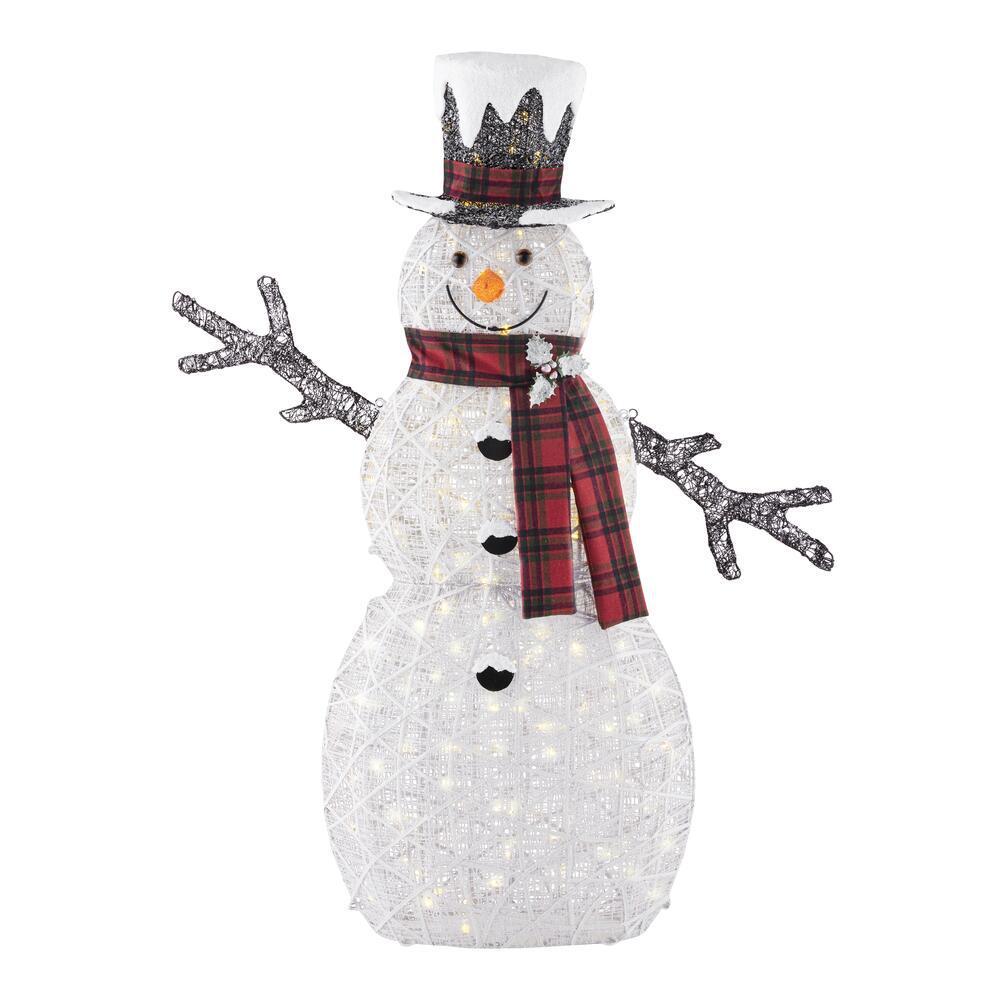 5 ft Polar Wishes White LED Snowman
