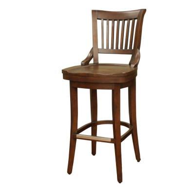 Liberty 34 in. Suede Bar Stool