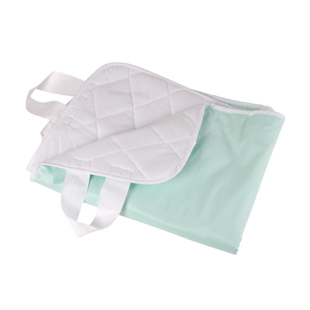 4-Ply Quilted Reusable Bed Pad with Straps
