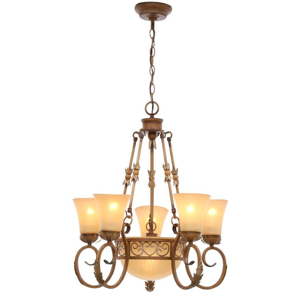Center Bowl - Chandeliers - Lighting - The Home Depot