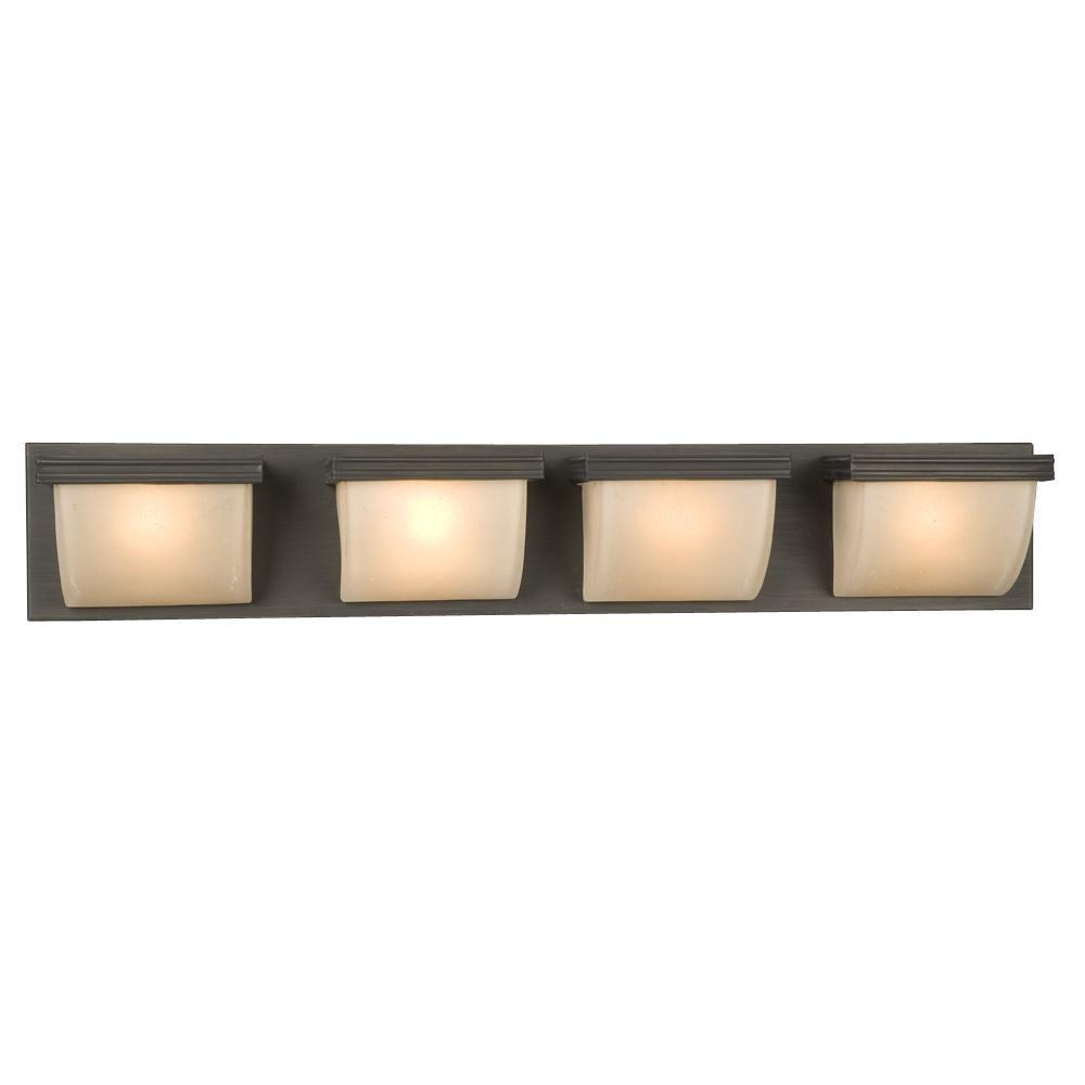 Filament Design Negron 4 Light Oil Rubbed Bronze Halogen Bath Vanity Light