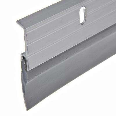 E/O 1-5/8 in. x 36 in. Aluminum Brushed Chrome and Vinyl Door Sweep