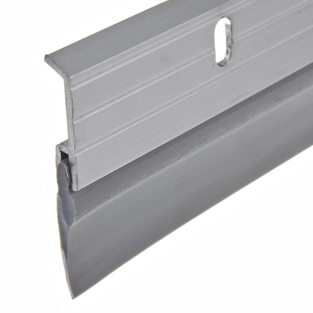 1-5/8 in. x 36 in. Aluminum Brushed Chrome and Vinyl Door Sweep