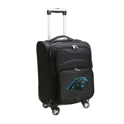 NFL Carolina Panthers 21 in. Black Carry-On Spinner Softside Suitcase