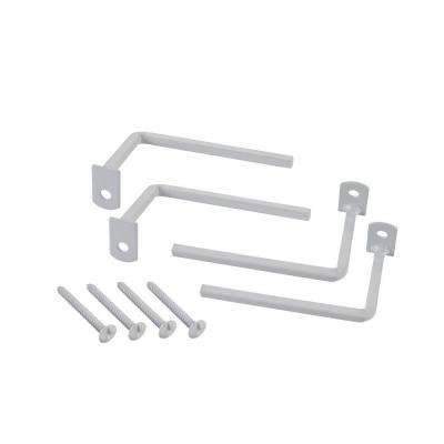3 in. Projection Brackets, White (4-Pack)