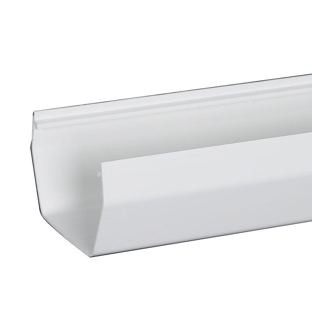 4 in. x 0.2 ft. White U-Style Vinyl Gutter