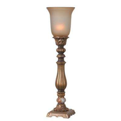Turner 26 in. Gold Table Torchiere
