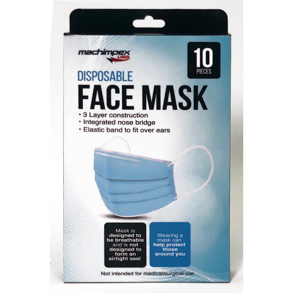 Disposable Face Masks (10-Pack)