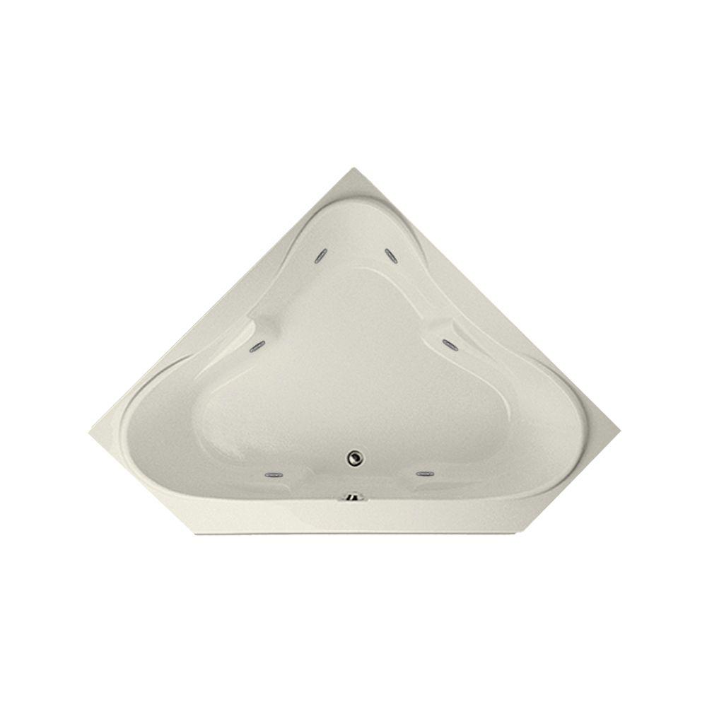 Montgomery 5 ft. Reversible Drain Whirlpool Tub in Biscuit