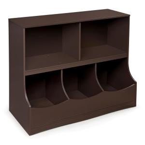 Badger Basket Multi Bin 37 In X 32 Espresso 5 Cube Organizer 98855 The Home Depot