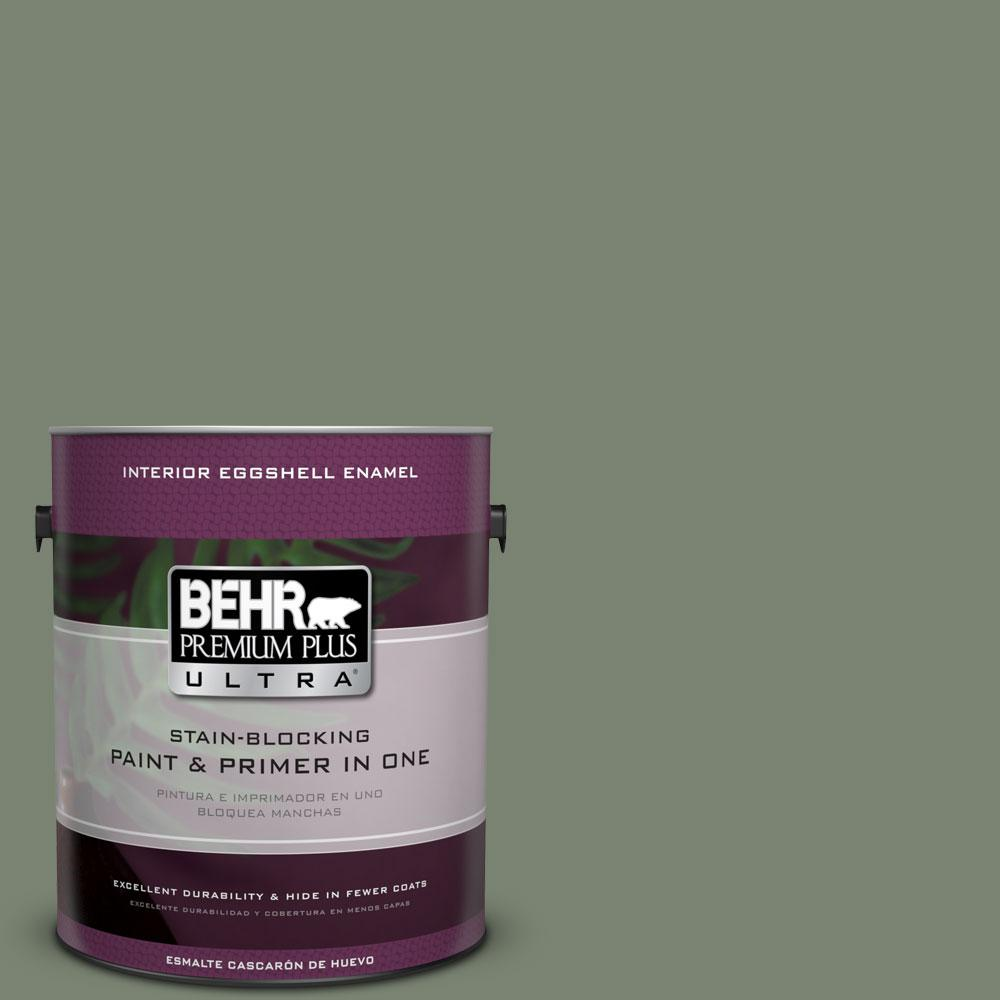 1 gal. #ICC-77 Sage Green Eggshell Enamel Interior Paint and Primer